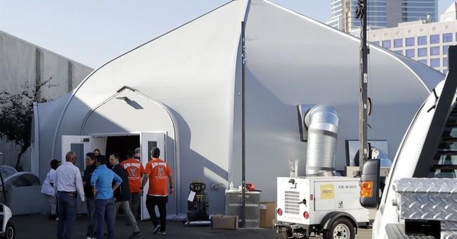 San Diego opens giant tent to contain hepatitis outbreak