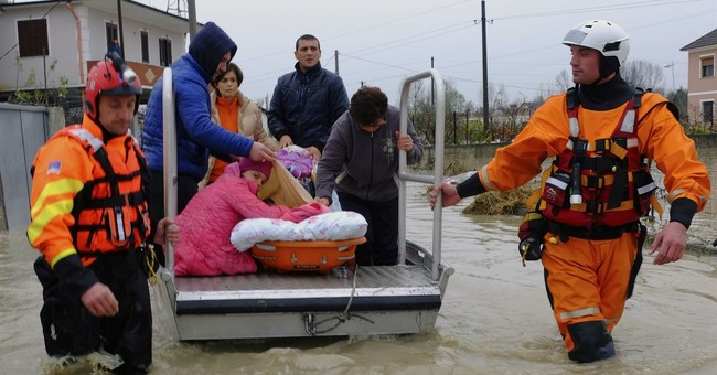 Torrential rain, floods paralyze Albania; 1 person dead