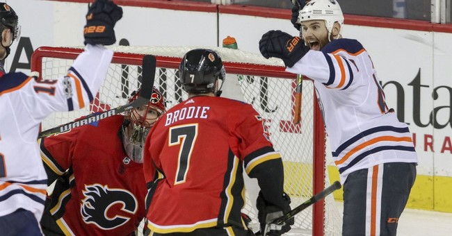 Oilers take big lead, hold on for 7-5 win over Flames