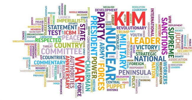 AP word cloud reveals the patterns in N. Korean propaganda