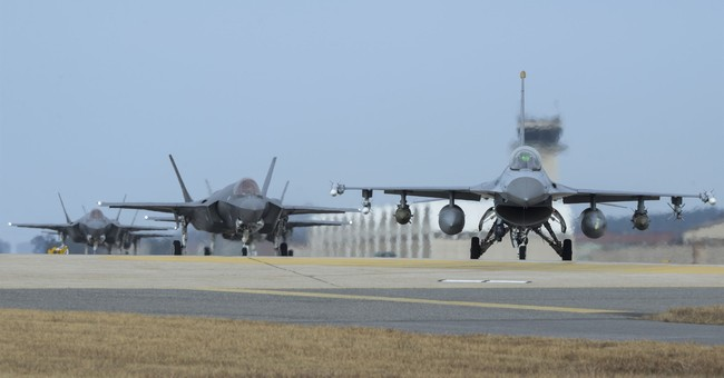 Stealth jets, other aircraft fly in US, South Korean drills