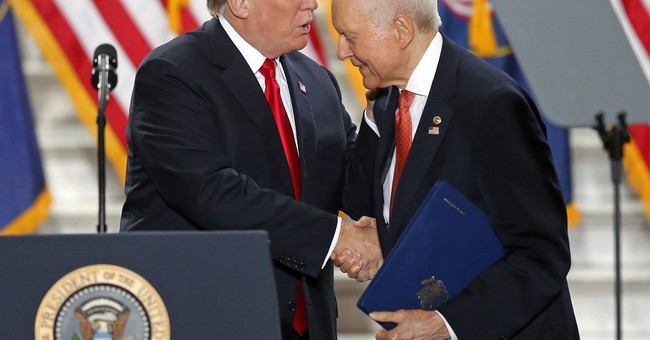 Trump backs Sen. Hatch for 8th term in bid to block Romney