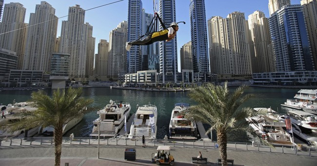 Dubai unveils a new zip line among towering skyscrapers