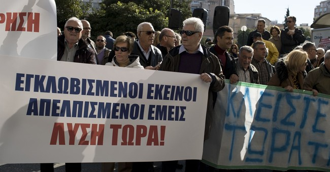 Greek islanders protest in Athens over migrant overcrowding