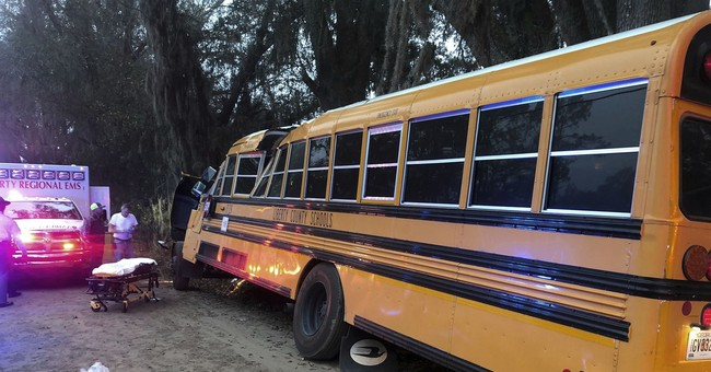 Girl, 5, dead after school bus crashes into tree in Georgia