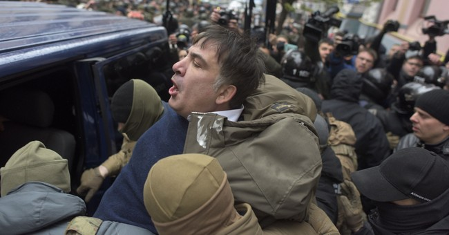 The Latest: Saakashvili calls Ukraine accusations 'fake'