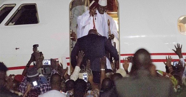 Activists cheer exit of Gambia leader, an anti-gay 'icon'