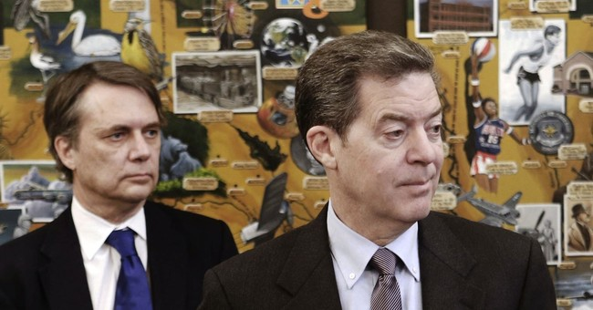 In awkward situation, Kansas seems to have 2 governors
