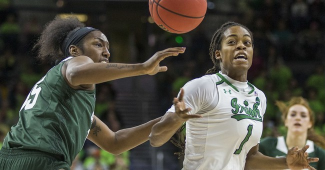 No. 3 Notre Dame women rout Michigan State 90-59