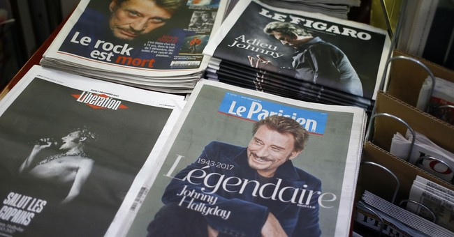 Weekend of Paris tributes for late rock star Johnny Hallyday