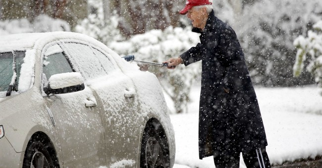 The Latest: 'Very abnormal' December snowfall in the South