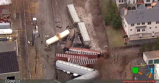 Freight train derails in New Jersey, causing commuter delays