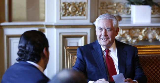 The Latest: Tillerson confirms Lebanese PM to remain in post