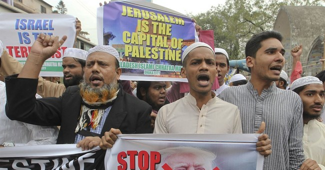 Angry worshippers lash out against Trump across Muslim world