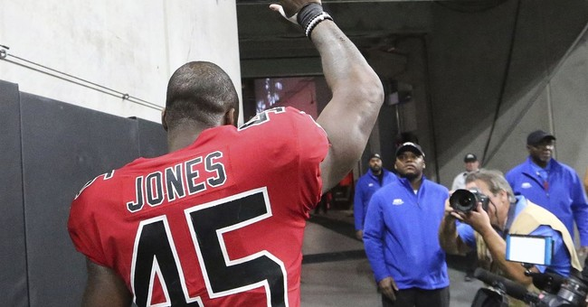 Jones makes game-saving INT, Falcons beats Saints 20-17