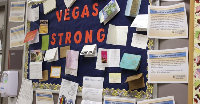 Vegas shooting survivors thank first responders with baskets