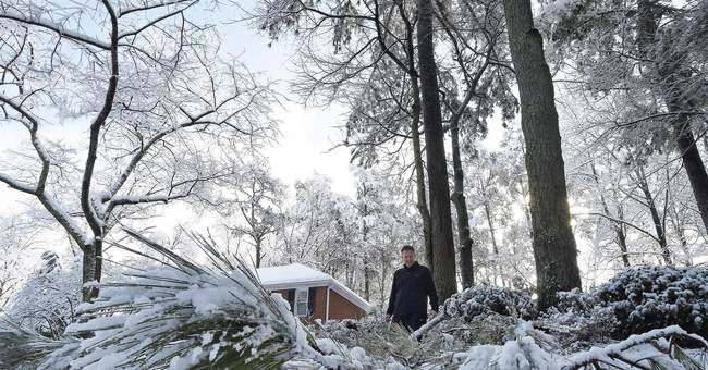 Snow exits South, marches toward Northeast