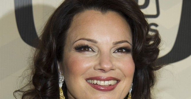 Actress Fran Drescher hosts Hanukkah celebration