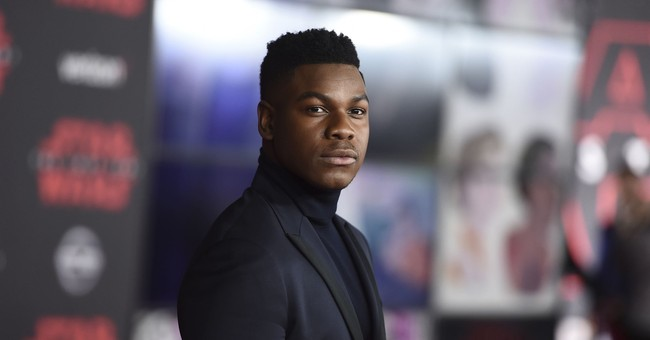 Boyega escapes Atlanta snow, makes 'Last Jedi' premiere