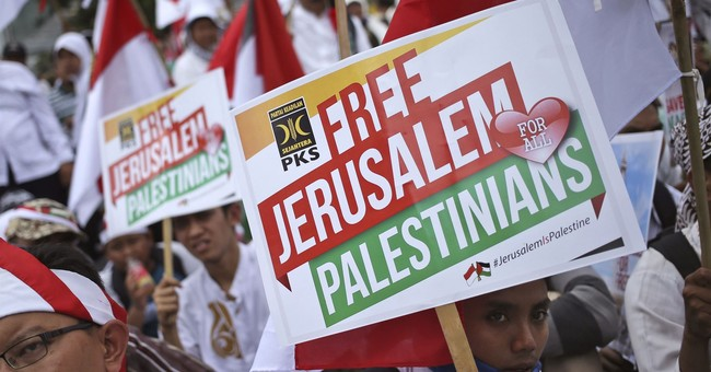 Thousands of Indonesians rally at US Embassy over Jerusalem