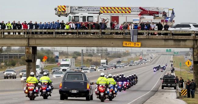 Funeral held in San Antonio for slain San Marcos officer