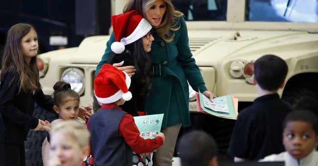 First lady hopes giving spirit continues through holidays