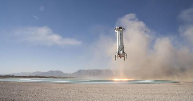 'Mannequin Skywalker' rides Blue Origin's new crew capsule
