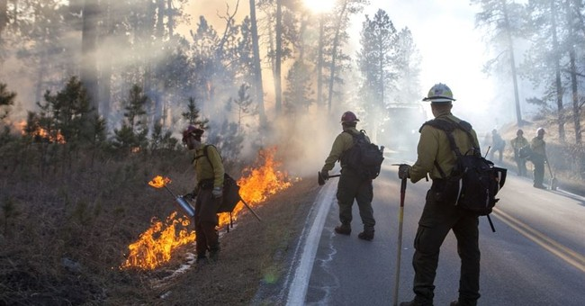 The Latest: Custer park fire in South Dakota grows larger