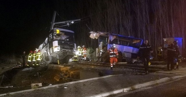 French death toll rises to 5 children in train-bus crash