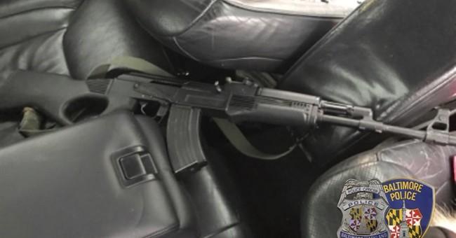 Gunman fires wildly during car chase through Baltimore