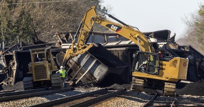 No injuries reported in train derailment in Virginia