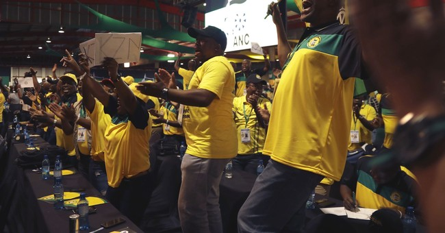 The Latest: South Africa leader doesn't endorse a successor