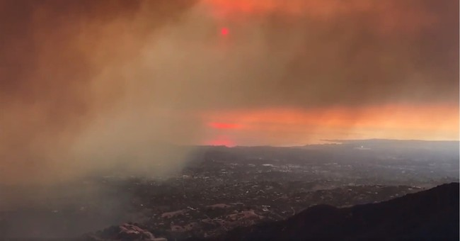 The Latest: Fire northwest of LA has burned 418 square miles