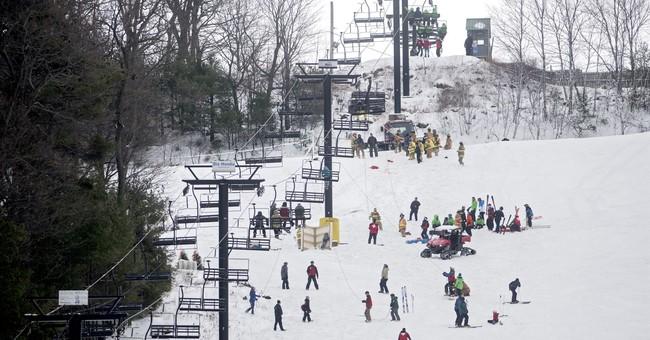 Ski lift malfunction strands dozens, 5 have minor injuries