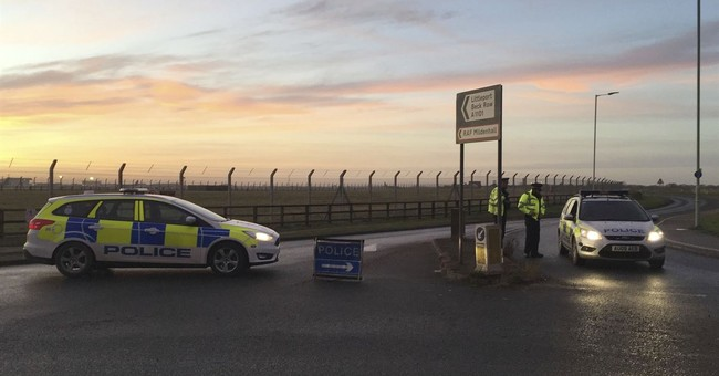 Suspect in UK air base incident kept on psychiatric hold