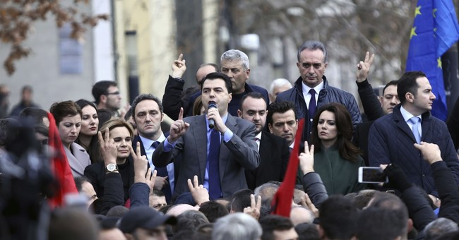 Albania opposition protesters in clashes outside parliament