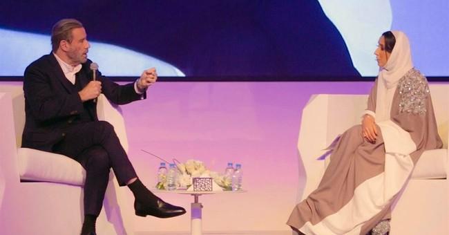 Hollywood star John Travolta woos audiences in Saudi Arabia