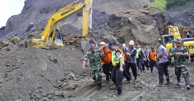 Landslide in Indonesia sand quarry kills 8 workers
