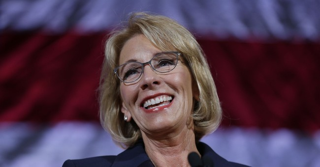 DeVos gives commencement speech amid protests in Baltimore