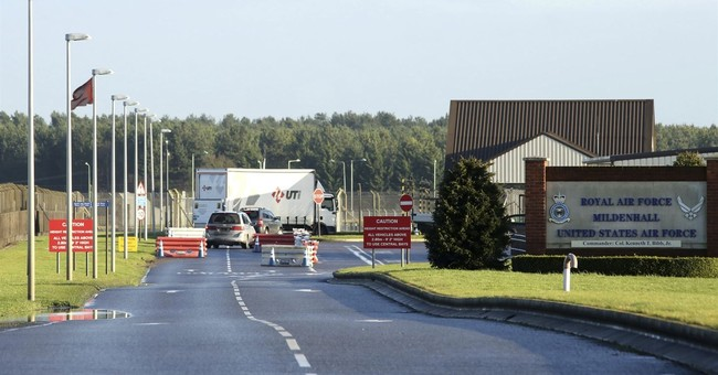 The Latest: UK base incident not being treated as terrorism