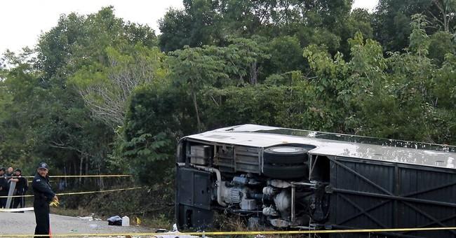 Survivors of Mexico bus crash heading home, 2 victims ID'd