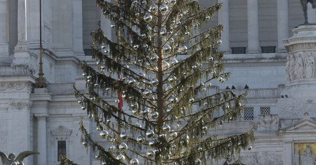 Rome's Christmas tree 'Mangy' needled for heavy shedding