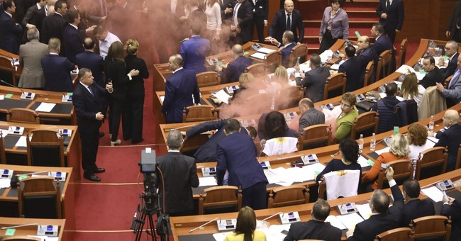 EU condemns Albania's opposition violence at parliament