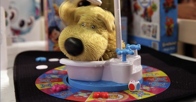 Board games get messy with squirting toilets, soggy dogs