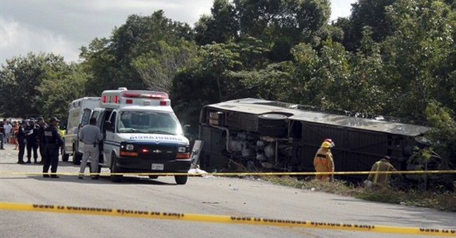 12 killed as bus carrying foreign tourists crashes in Mexico