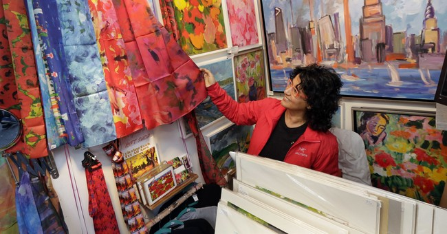 Open-air markets a holiday marathon for artists, retailers