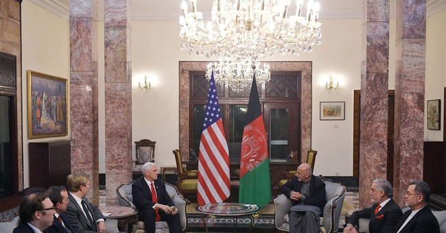 Pence to Afghan president: US is 'here to see this through'