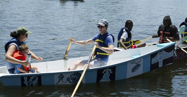 Boats made by kids save Washington Christmas river crossing