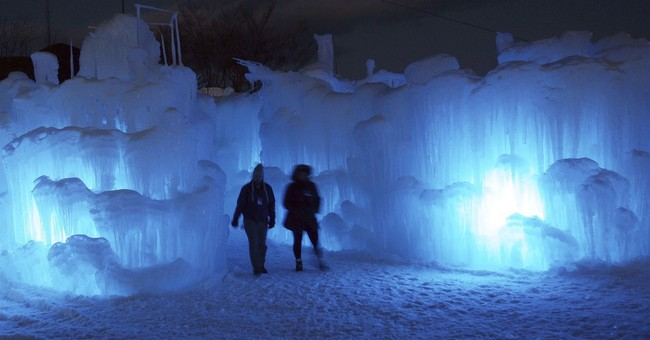 Ice sculptures nearly ready for viewing in New Hampshire