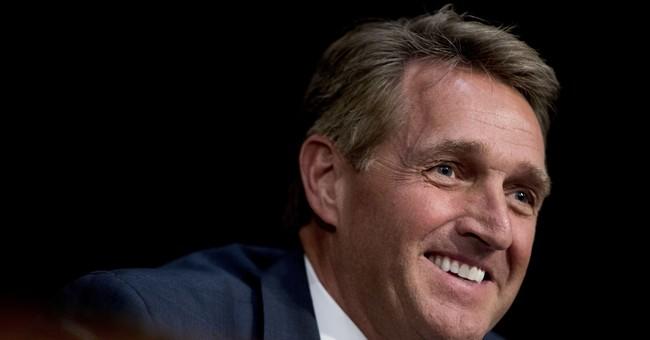 Sen. Flake dangles possibility of running against Trump